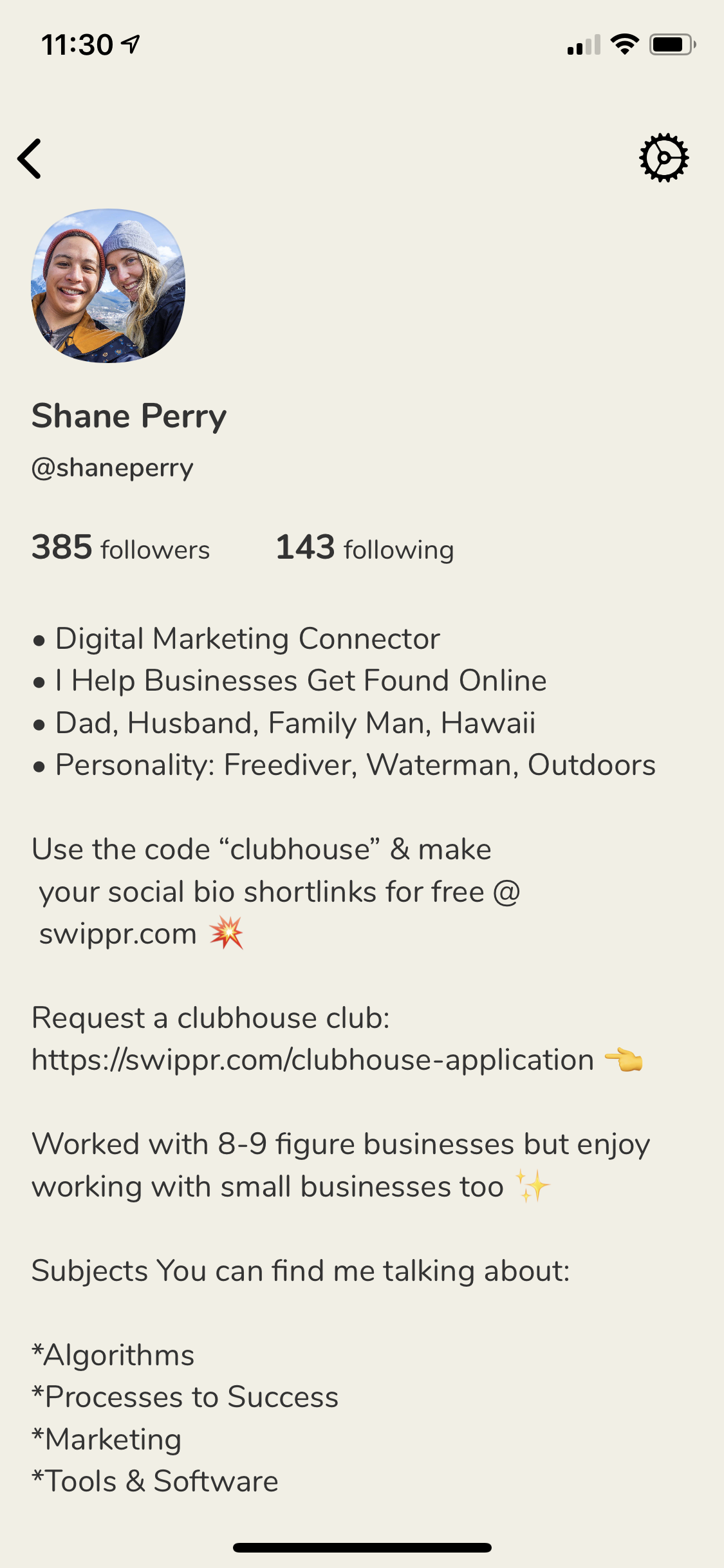 Picture of Bio o Clubhouse app
